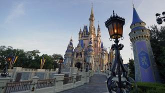 The Cinderella Castle at the Magic Kingdom at Walt Disney World
