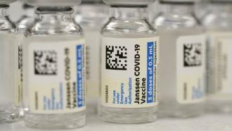 Vials of the Johnson & Johnson COVID-19 vaccine.
