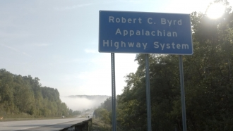 Sign for the Appalachian Highway System