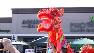A Chinese dragon at a Moon Festival