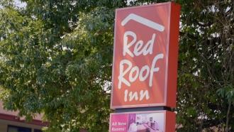 Outside a Red Roof Inn