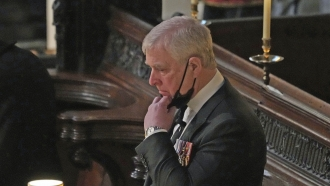 Britain's Prince Andrew inside St. George's Chapel