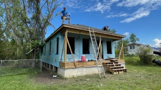 A home built by Habitat for Humanity
