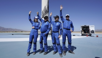Blue Origin's New Shepard rocket and its latest space passengers