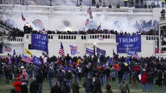 Violent protesters storm the Capitol in Washington on Jan. 6, 2021.