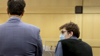 Nikolas Cruz and his attorney in the courtroom.