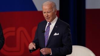 President Joe Biden at a CNN town hall.
