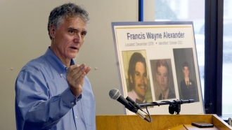 """Cook County Sheriff Tom Dart announces the identity of """"Gacy Victim 5"""" as Francis Wayne Alexander"""