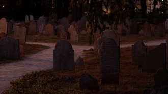 The Old Burying Point cemetery in Salem, Massachusetts