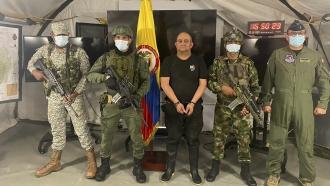 Dairo Antonio Usuga at a military base in Necocli, Colombia