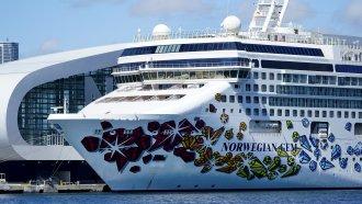 A Norwegian cruise ship