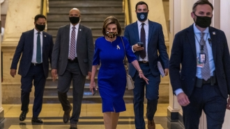 House Speaker Nancy Pelosi joined by House Democrats.