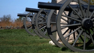 Historic cannons in Gettysburg