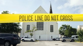 Police tape at AME Emanuel Church
