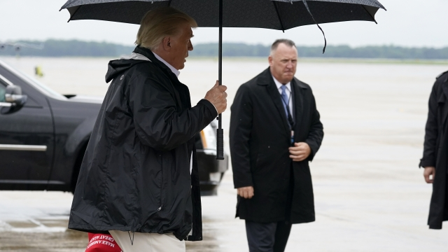 President Trump Visits Louisiana, Texas Areas Hit By Hurricane Laura