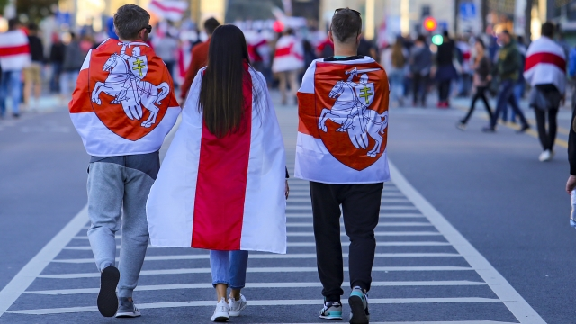 Belarus Enters Seventh Week Of Protests As Tens Of Thousands March