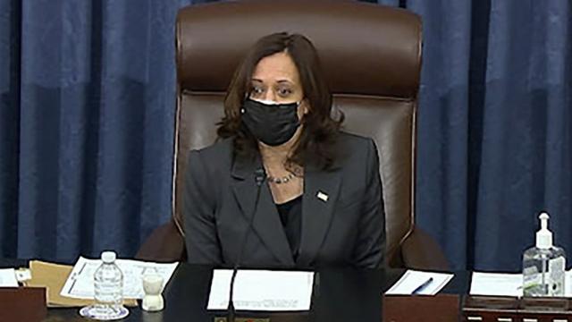 VP Harris casts tie-breaking vote, stimulus bill gets
