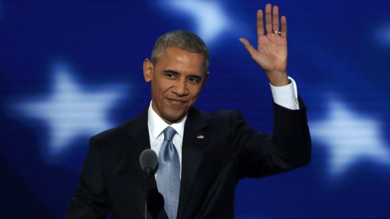 President Obama gave a farewell to his supporters.