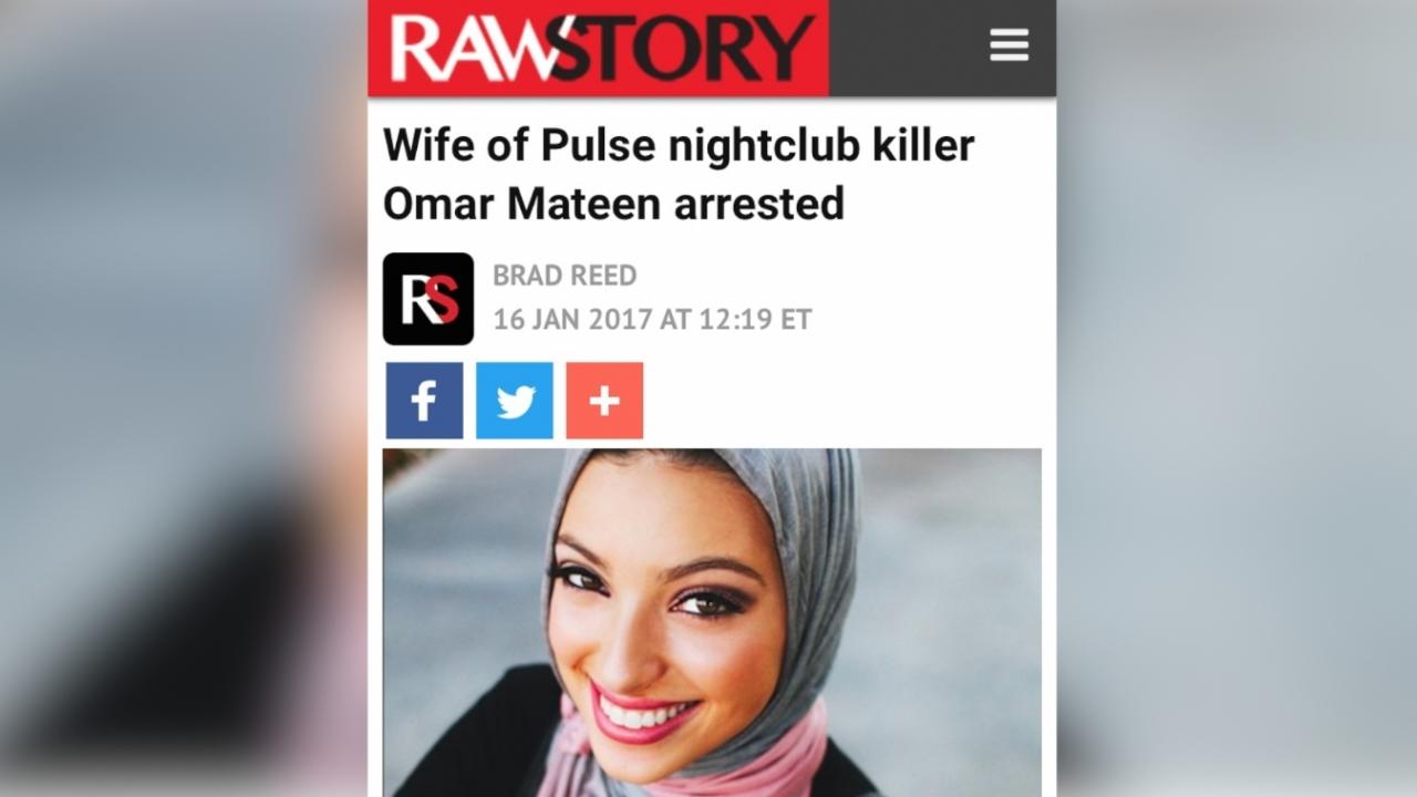 RawStory's incorrect photo pairing of Noor Tagouri