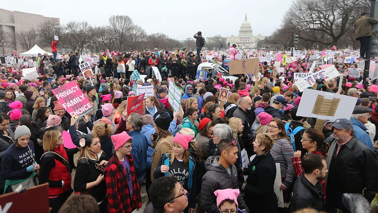 Thousands gather for the women's march in D.C.