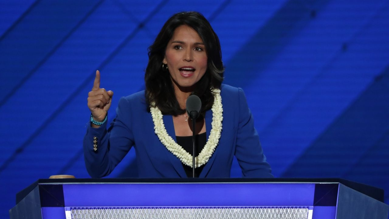 Rep. Tulsi Gabbard on the second day of the Democratic National Convention.