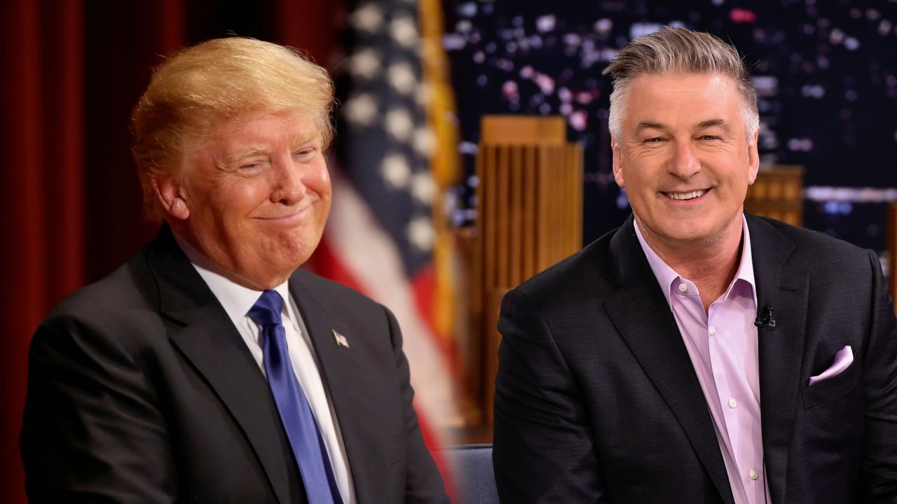 A side by side of Alec Baldwin and Donald Trump