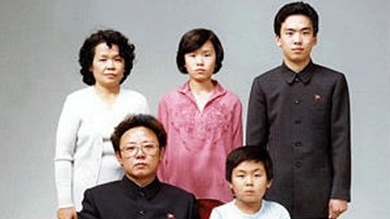 Family photo of Kim Jong-il with his firstborn son, Kim Jong-nam.