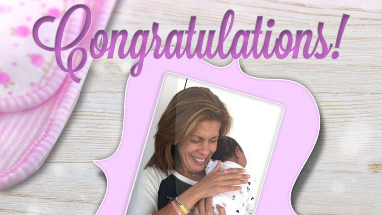 Hoda Kotb holds her newborn daughter.