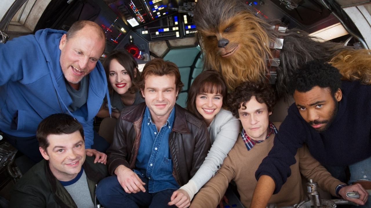 Cast photo of the Han Solo prequel movie
