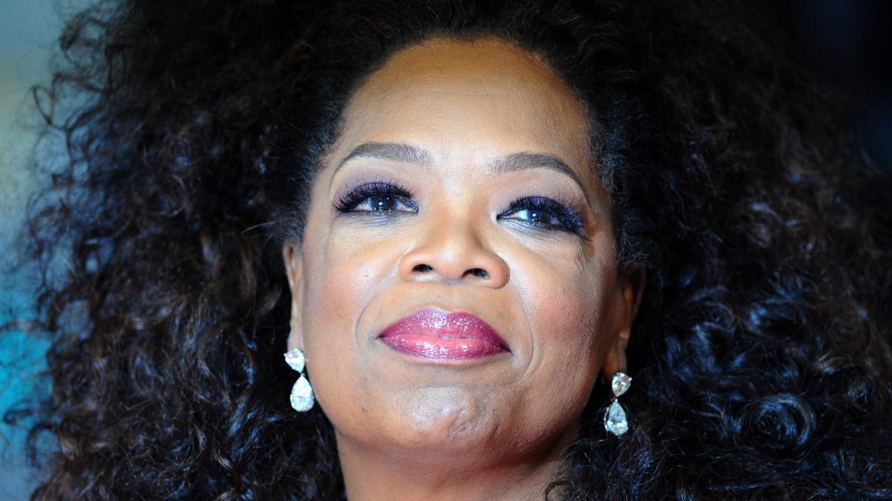 Oprah Winfrey attends the EE British Academy Film Awards.