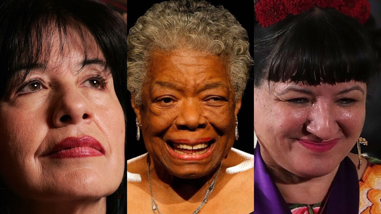 Authors Joy Harjo, Maya Angelou and Sandra Cisneros
