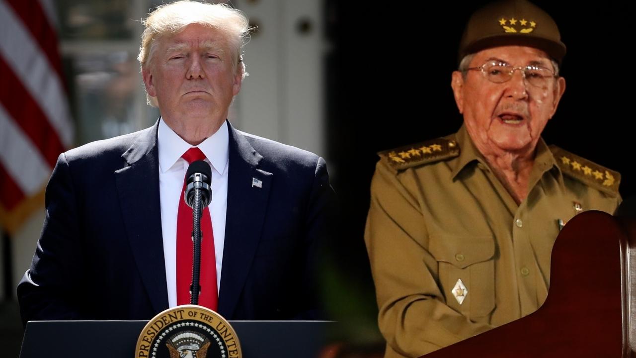 President Donald Trump and Cuban President Raul Castro