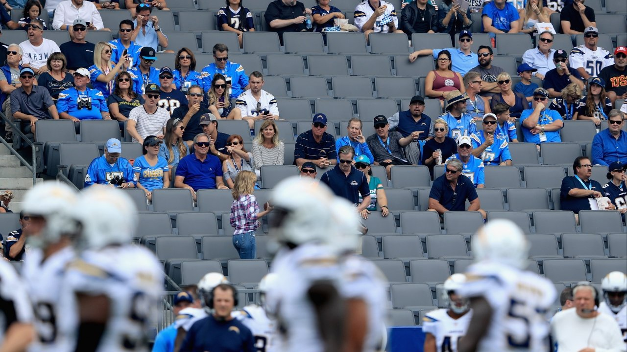 Empty seats at the Chargers home opener game