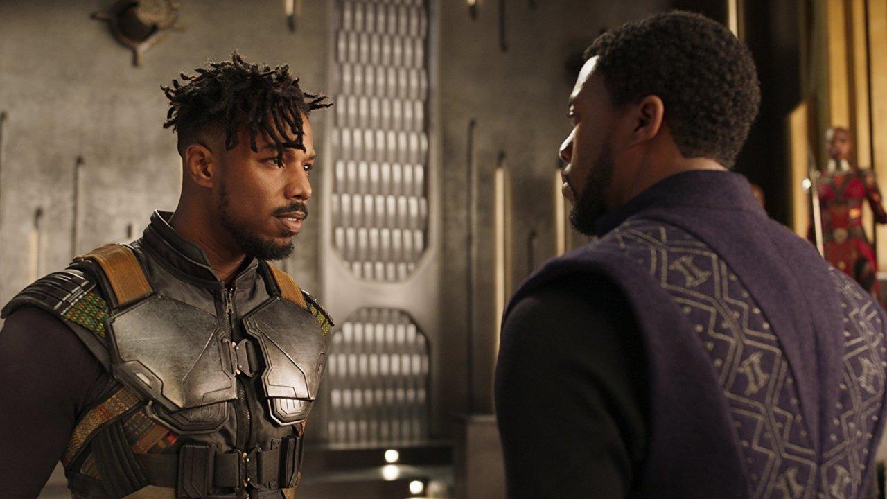 """Michael B. Jordan as Eric Killmonger in """"Black Panther"""""""