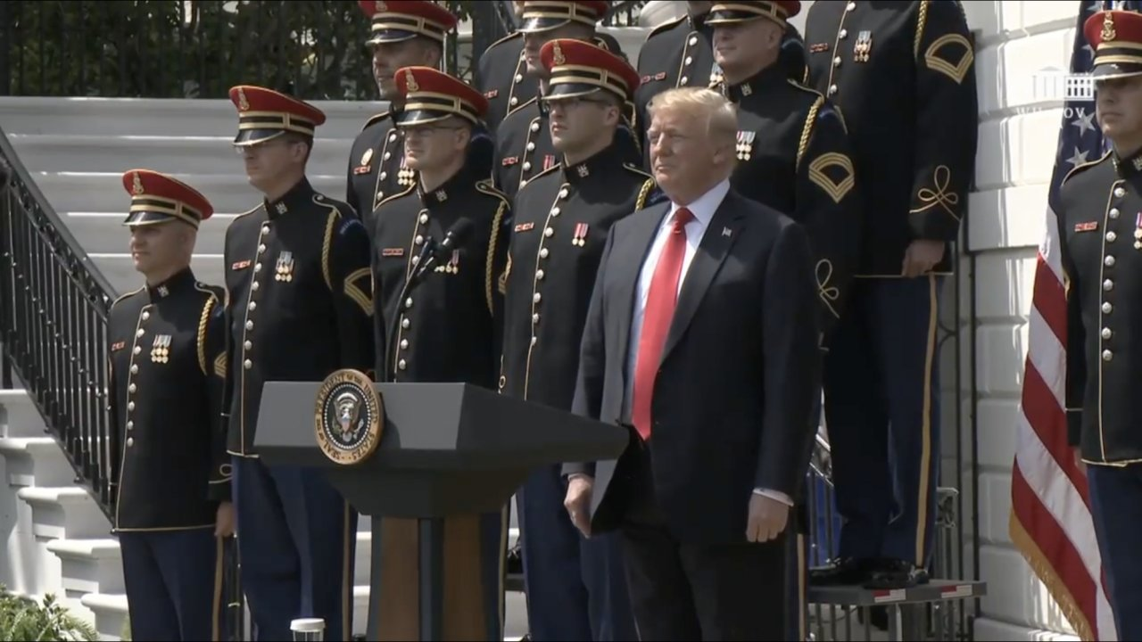 """President Donald Trump at the """"Celebration of America"""" event"""