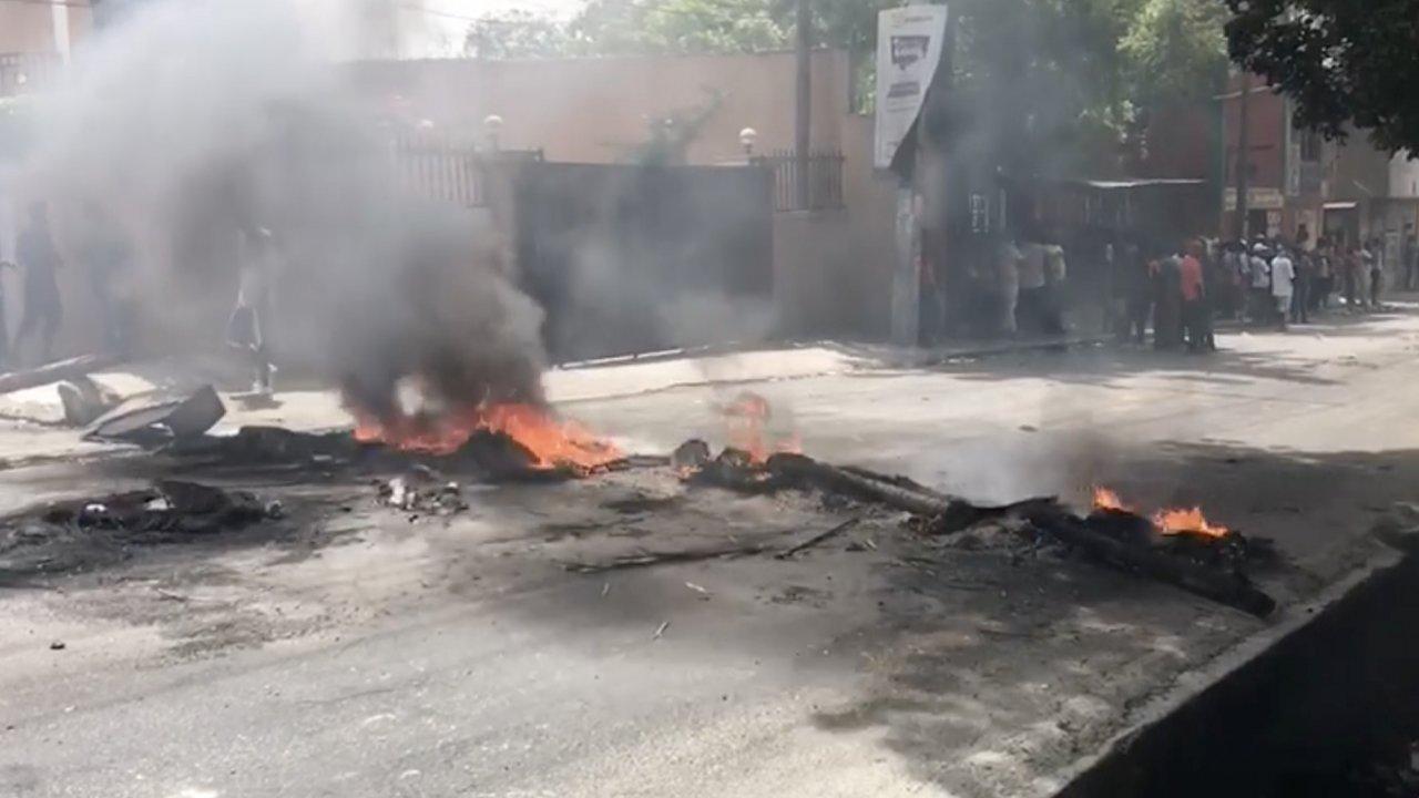 Roadblock in Haiti