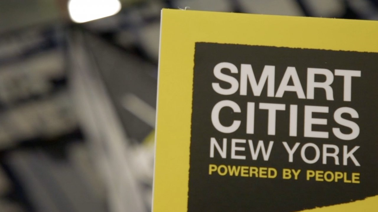 Smart Cities sign in New York City.
