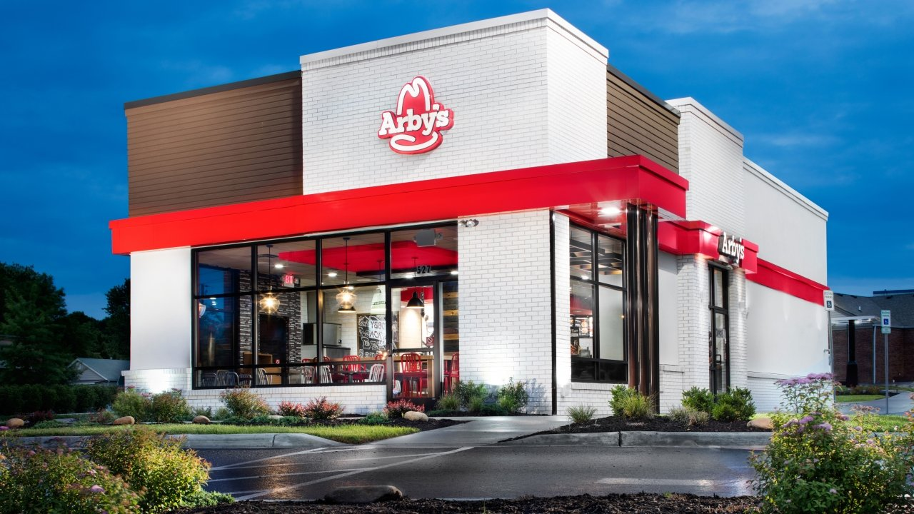 Exterior of an Arby's fast food restaurant