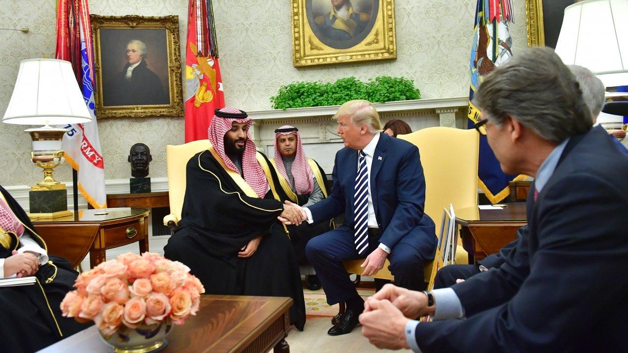 Saudi Crown Prince Mohammad bin Salman and President Donald Trump