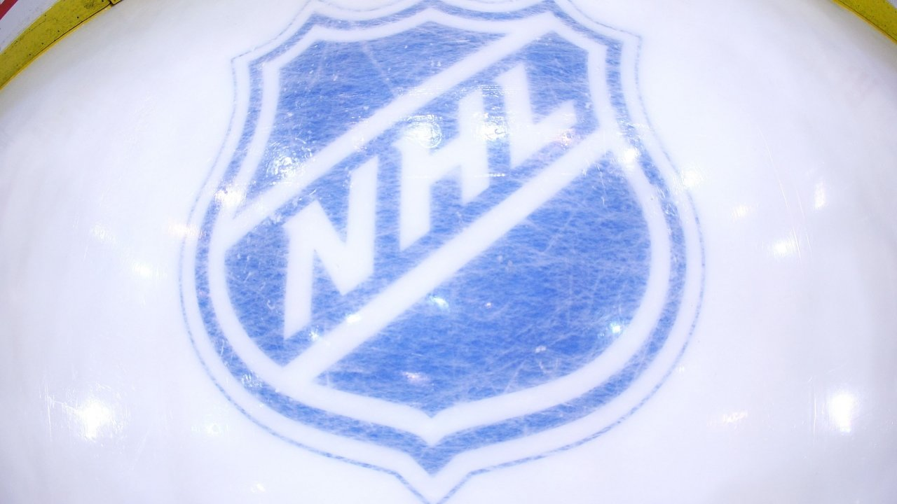 NHL logo on ice