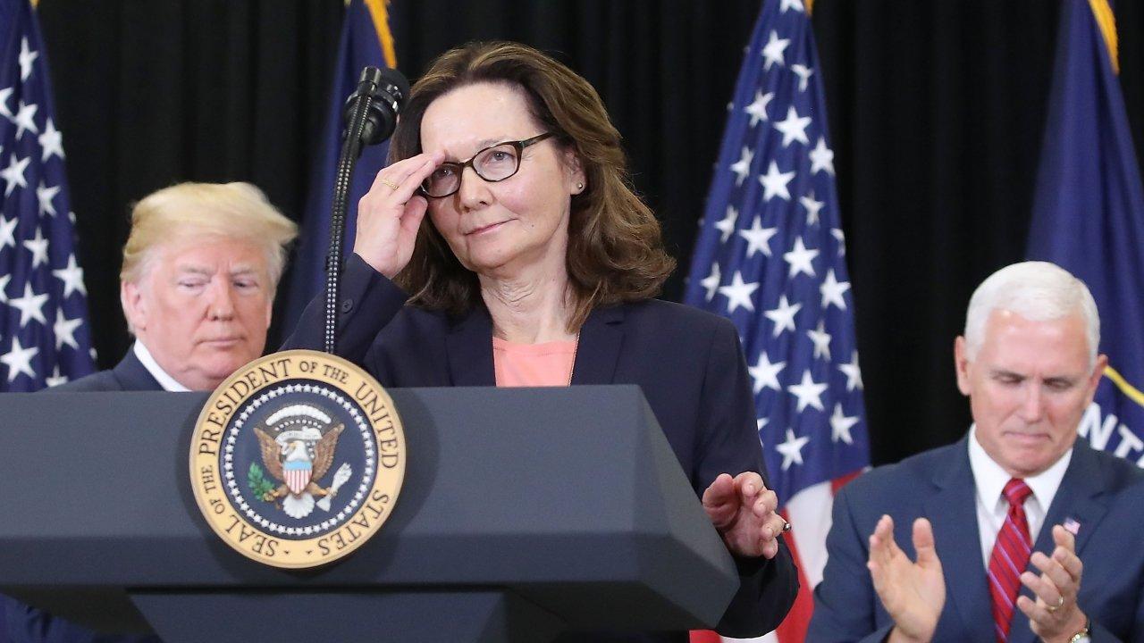 Gina Haspel at a press conference