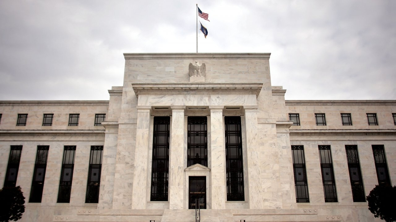 Exterior of the Federal Reserve building