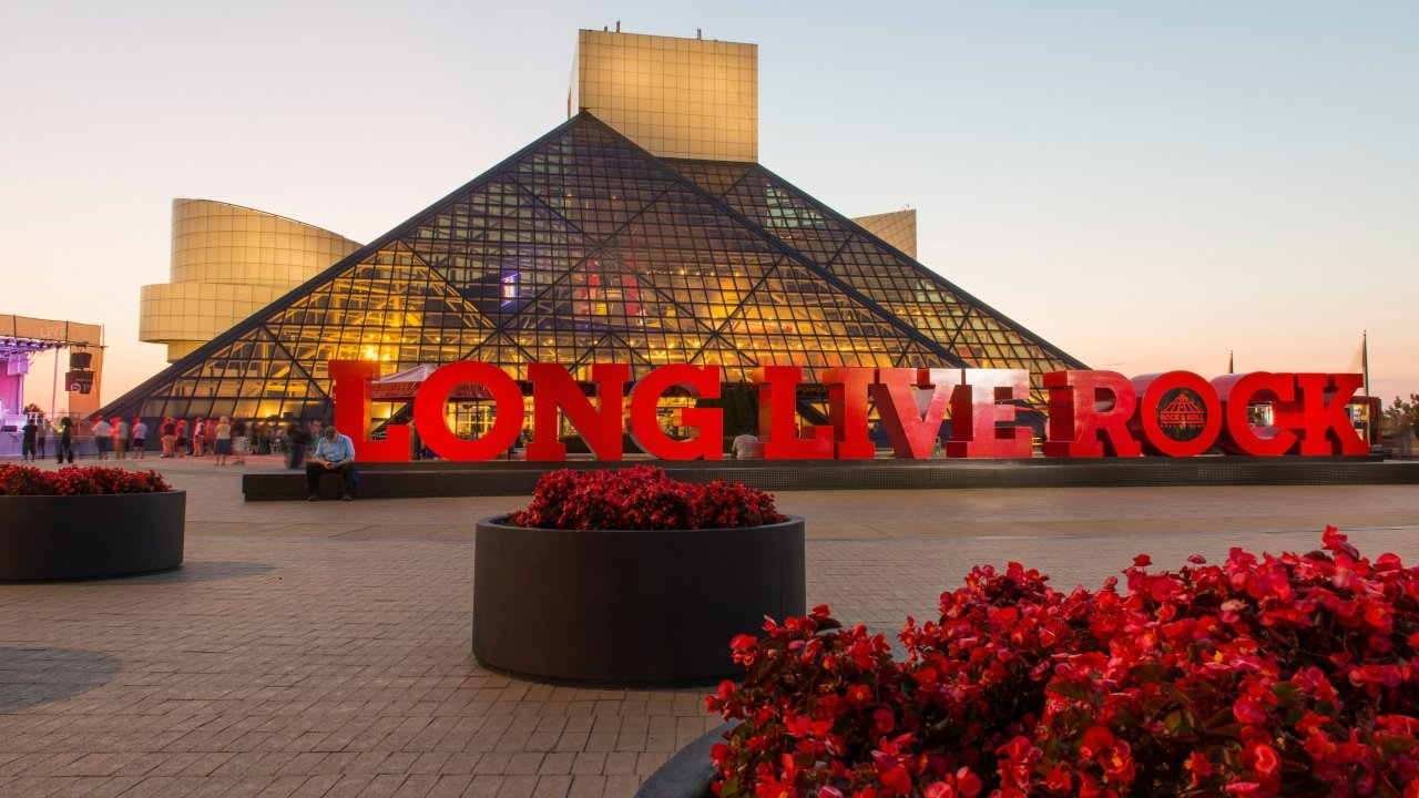 The Rock and Roll Hall of Fame and Museum in Cleveland, Ohio