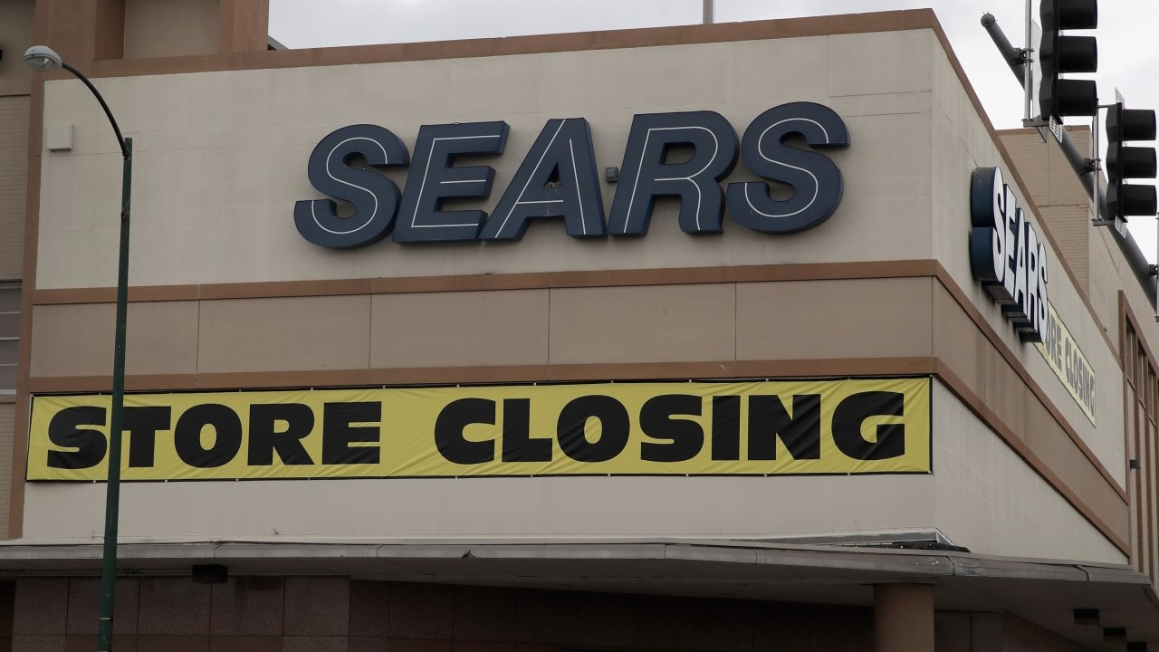 Sears' signs on a building