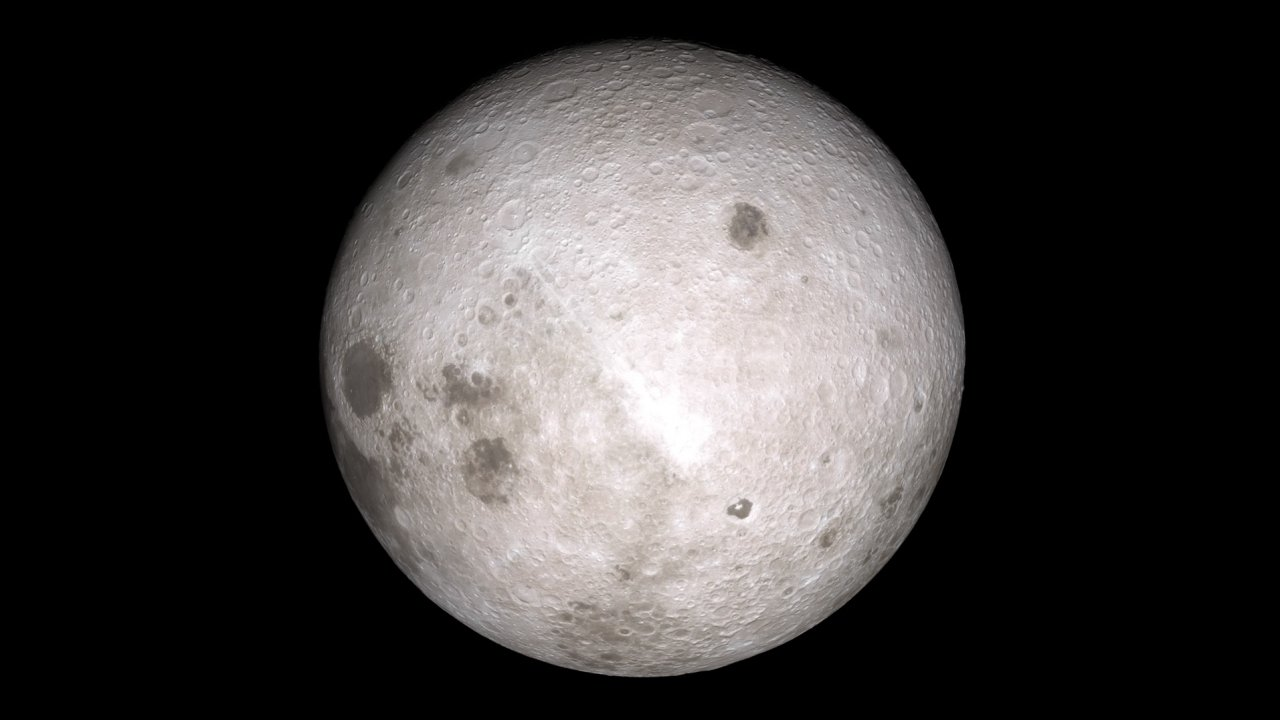 A composite image of the far side of the moon as captured by the Lunar Reconnaissance Orbiter