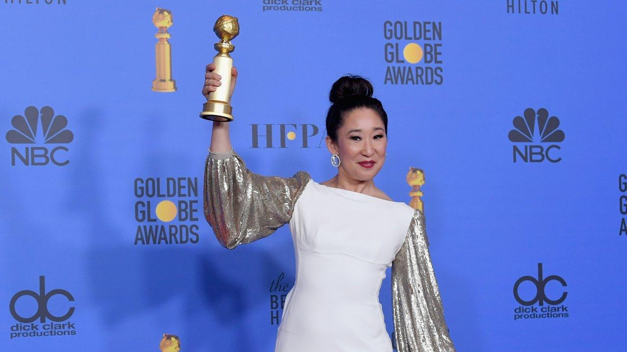 Actress Sandra Oh at the 2019 Golden Globes