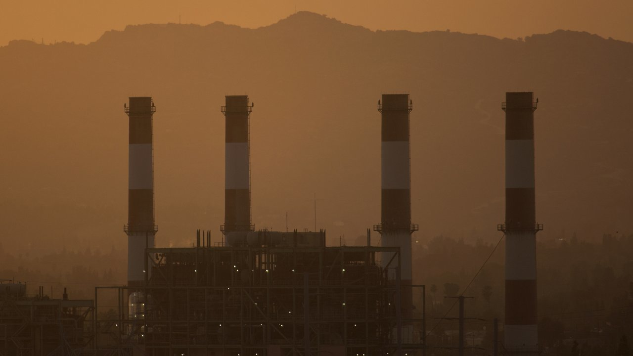 The gas-powered Valley Generating Station is seen in the San Fernando Valley.