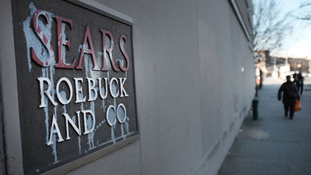 A Sears department store sign