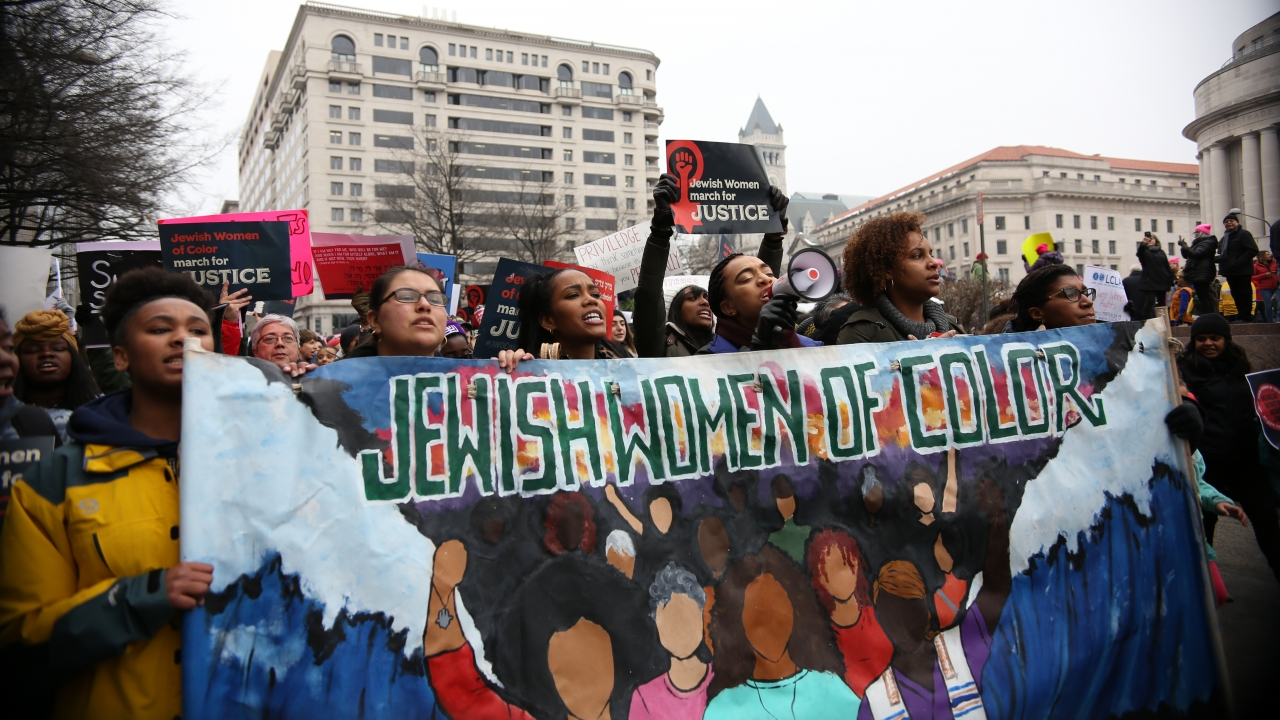 Hundreds converge on Washington, D.C. for the Women's March.
