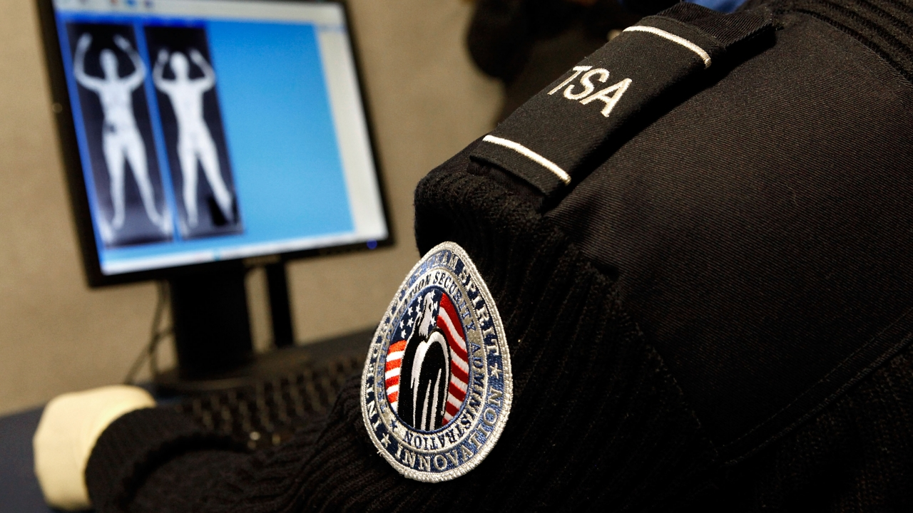 A Transportation Security Administration security officer